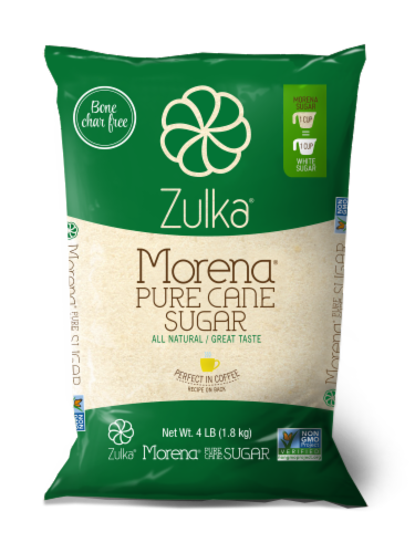 Zulka Morena Pure Cane Sugar Perspective: front