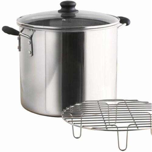 8 qt. Stainless Steel Tamale & Seafood Steamer Perspective: front