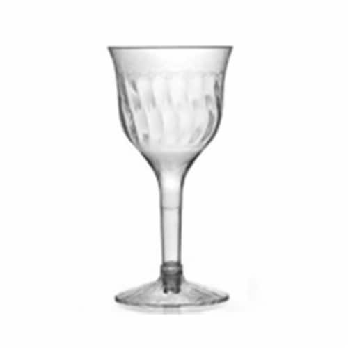 Flairware 5 oz Clear Wine Goblet 2 Piece Perspective: front