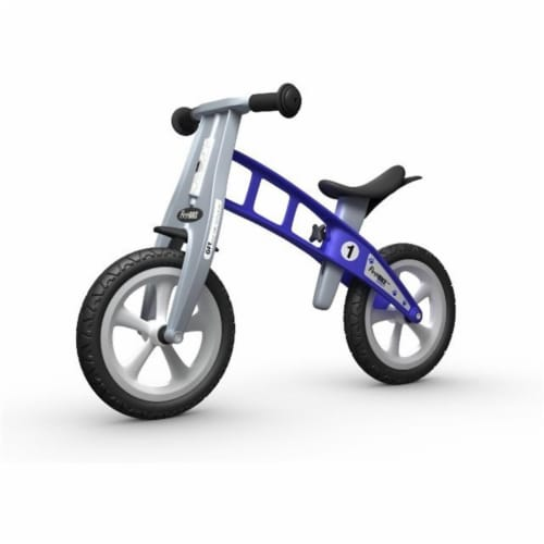 Basic Blue Balance Bike Without Brake And Non Air Tires Perspective: front