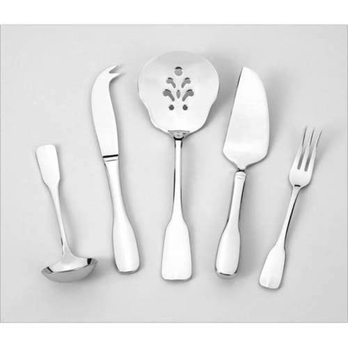 Alsace 5 Piece Serving Set - Heavyweight - 18-10 Stainless - Mirror Finish Perspective: front