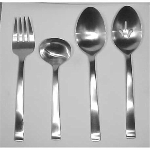 Norse- 18-10 Stainless- All Satin Finish 4PC Hostess Set Perspective: front