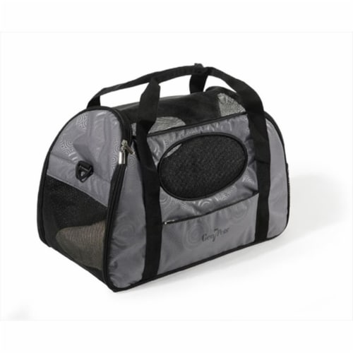 Carry-Me Fashion Pet Carrier  Gray Shadow Perspective: front