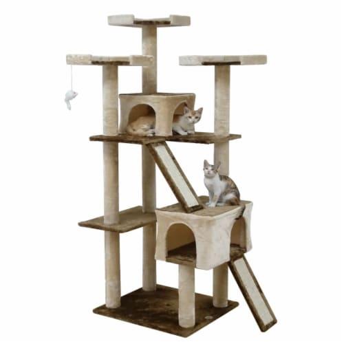 71 in. Kitten Cat Tree Perspective: front