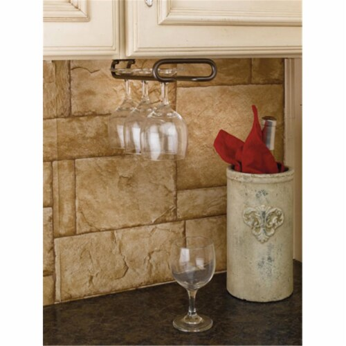 RS3150.18SN 18 ft. D Single Stemware Rack-Oil Rubbed Bronze Perspective: front