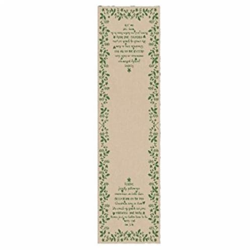 Christmas Time 13 x 42 in. Runner - Natural & Green Perspective: front