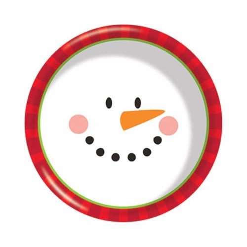 Group  6 in. Decor Snowman Face Plastic Bowl, Pack of 12 Perspective: front