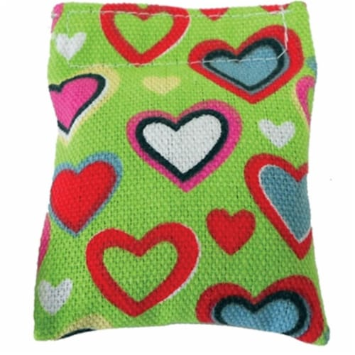 Heart Pillow Catnip Toy Cat n Around -Refillable - on Hang Tag Perspective: front