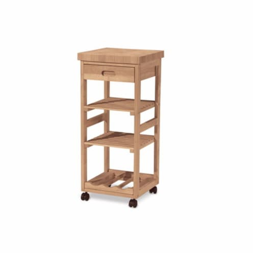 Trolley Kitchen Serving Cart  Unfinished Perspective: front