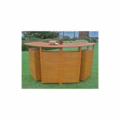 Royal Tahiti Outdoor Wood Fold Out Bar Perspective: front