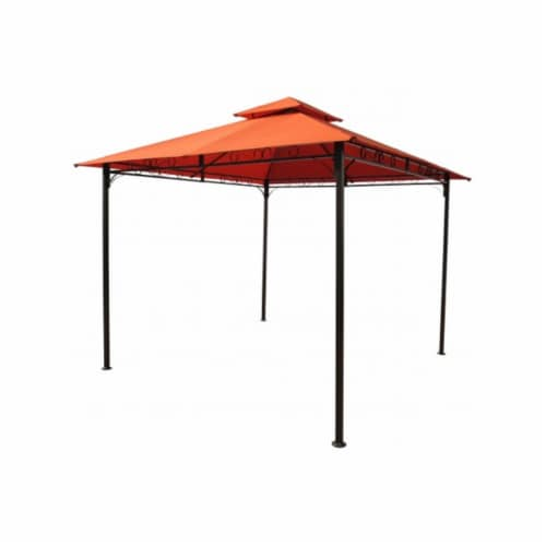 Square Vented Canopy Gazebo, Terra Cotta Perspective: front