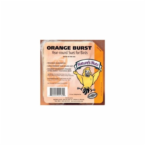 11.5 Oz Orange Burst Suet - Case of 12 Perspective: front