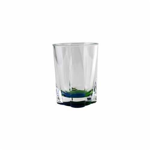 Peacock Crystal Tumbler Perspective: front