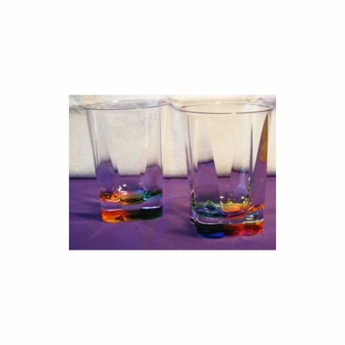 Rainbow Crystal Tumbler Perspective: front