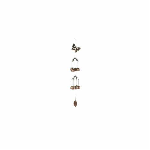 Butterfly Double Tier Bell Wind Chime Perspective: front