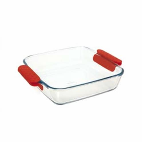 Lancaster Colony  Prediletta Medium 1.9 qt. Square Roaster with Silicone Handles Perspective: front