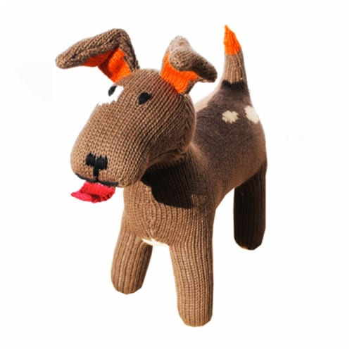 Knit Dog, 10 in. Toy Perspective: front