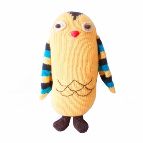 Knit Owl , 8.5 in. Toy Perspective: front