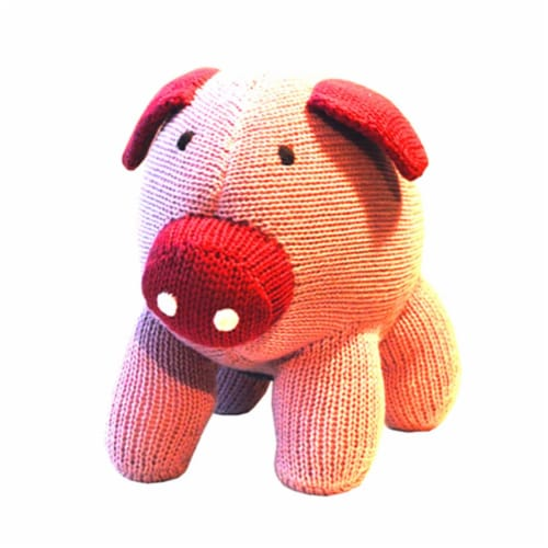 Knit Pig, 6 in. Toy Perspective: front