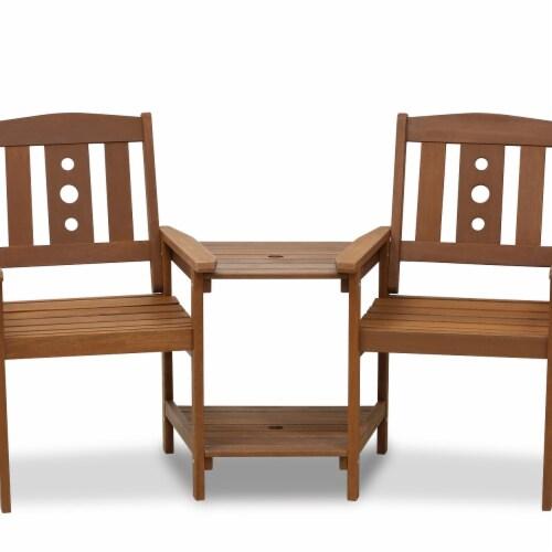 Tioman Outdoor Hardwood Jack & Jill Chair Set Perspective: front