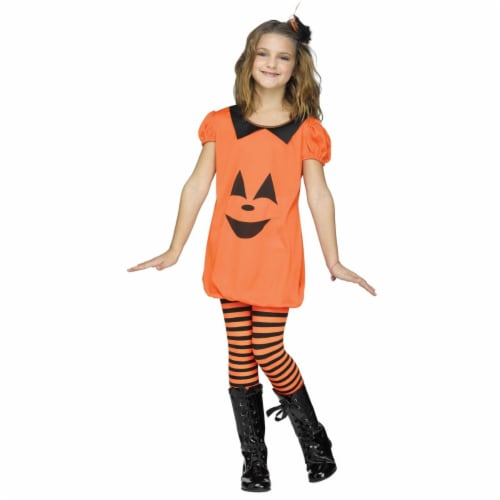 Pumpkin Romper Child Costume, Medium 8-10 Perspective: front