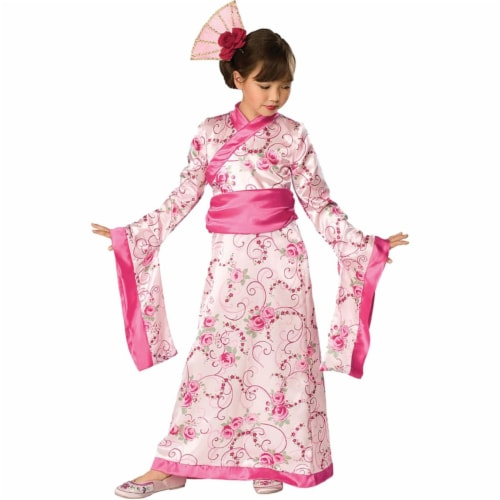 Asian Princess Child Costume, Medium Perspective: front
