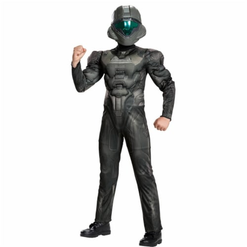 Spartan Buck Muscle Child Costume, Size 14-16 Perspective: front