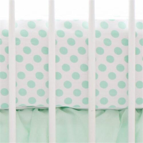 Mint Polka Dot Crib Sheet Perspective: front
