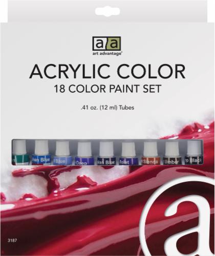 Art Advantage Acrylic Color Paint Set - Multi-Color Perspective: front