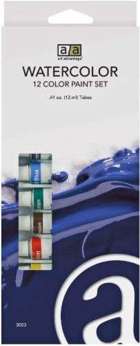 Art Advantage 12 Color Paint Set Perspective: front