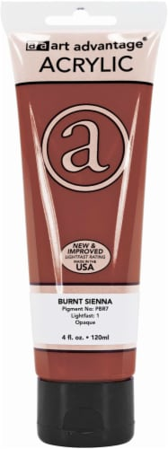 Art Advantage Acrylic Paint Tube - Burnt Sienna Perspective: front