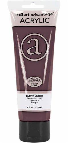 Art Advantage Acrylic Paint Tube - Burnt Umber Perspective: front