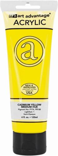Art Advantage Acrylic Paint Tube - Cadmium Yellow Medium Perspective: front
