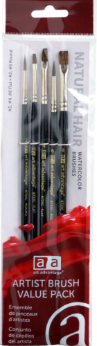 Art Advantage Watercolor Brush Set - Black Perspective: front