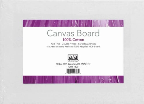 Art Advantage Canvas Boards - 9 x 12 Inch - 3 Pack Perspective: front