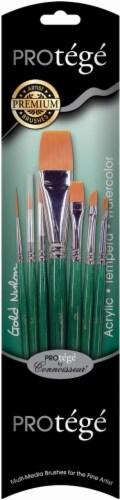 Connoisseur Protege Short Handle Gold Nylon Paint Brush Set Perspective: front