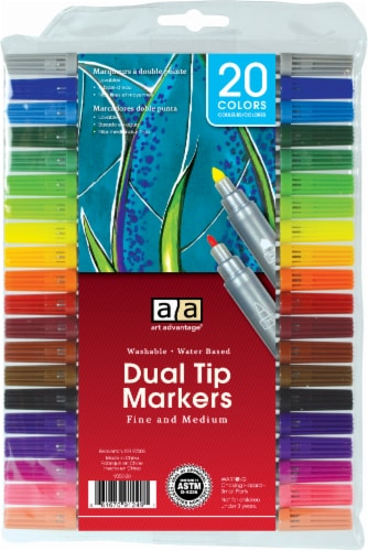 Art Advantage Dual Tip Markers Perspective: front