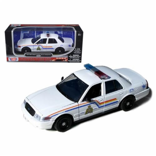 Motormax 76483 2010 Ford Crown Victoria Royal Canadian Police Car 1-24 Diecast Model Perspective: front