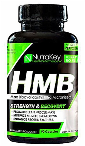 NutraKey  HMB Strength & Recovery Perspective: front