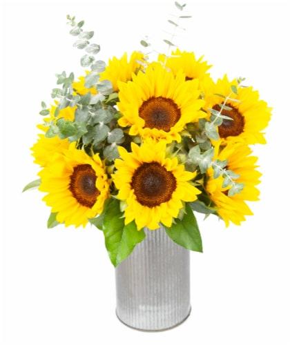 Dos Gringos Flower Company Sending Sunshine Sun Flower Arrangement Perspective: front