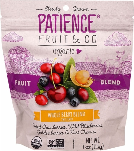 Patience Fruit & Co  Organic Fruit Blend   Whole Berry Blend Perspective: front