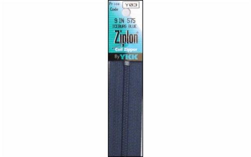 "YKK Ziplon Coil Zipper 9"" Iceburg Blue Perspective: front"
