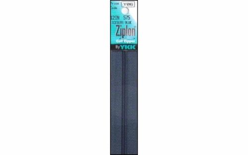 YKK Ziplon Coil Zipper 12  Iceburg Blue Perspective: front