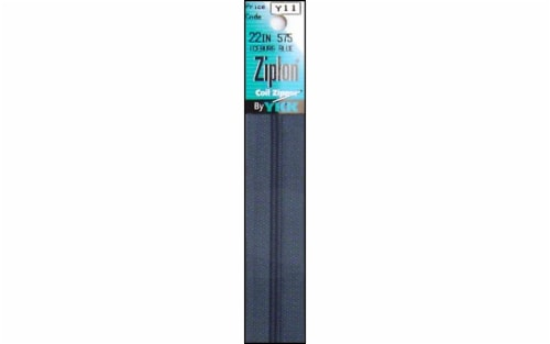 YKK Ziplon Coil Zipper 22  Iceburg Blue Perspective: front