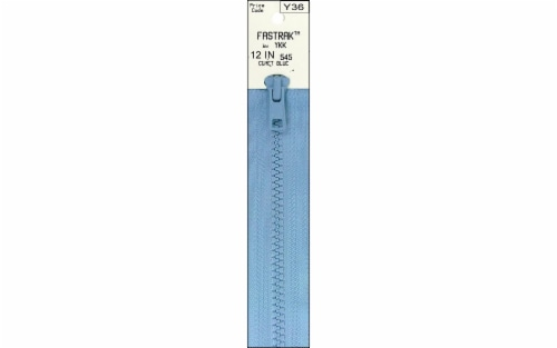 "YKK Vislon Separating Fastrak Zipper 12"" Comet Blu Perspective: front"