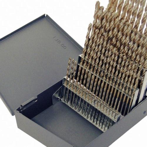 Chicago-Latrobe Screw Machine Drill Bit Set,60pc,Cobalt HAWA 69854 Perspective: front