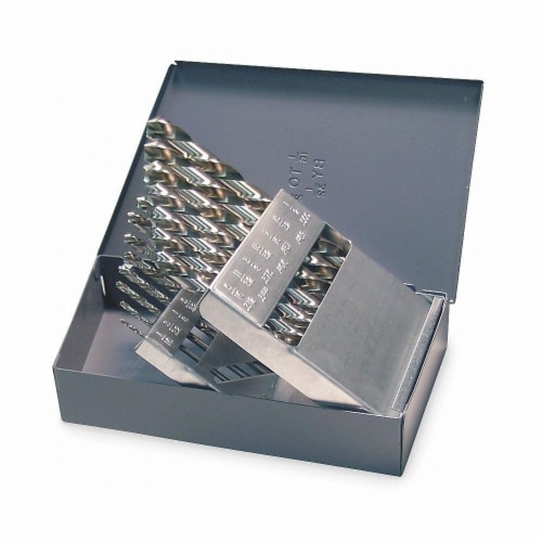 Jobber Drill Bit Set,  Number of Drill Bits 15,  Drill Bit Point Angle 118° Perspective: front