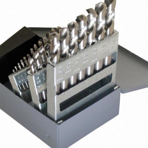 Chicago-Latrobe Screw Machine Drill Bit Set,29pc,HSS HAWA Perspective: front