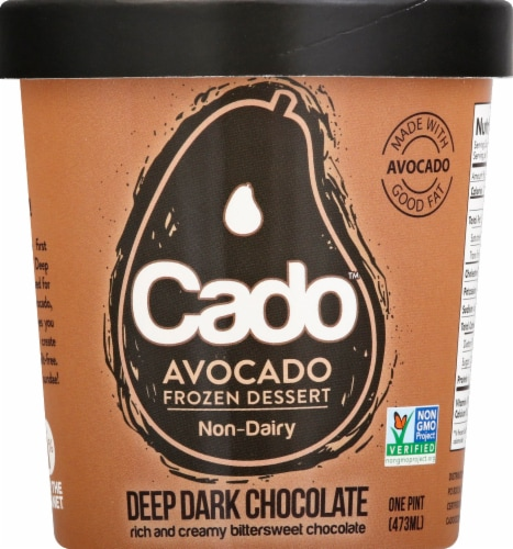 Cado Dark Chocolate Frozen Dessert Perspective: front