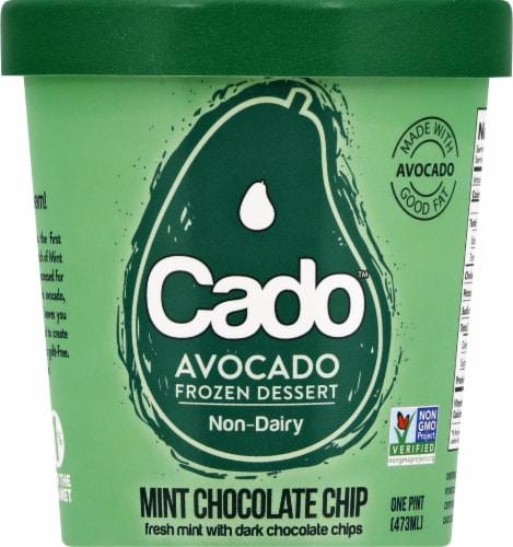Cado Mint Chocolate Chip Frozen Dessert Perspective: front